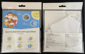Non-Surgical Washable Embroidery Masks (3 Mask per Packet)