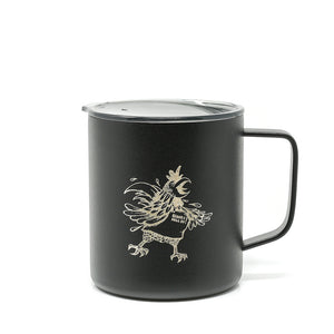 Wake The Hell Up Coffee Rooster Logo Insulated Powder Coated Camp Cup