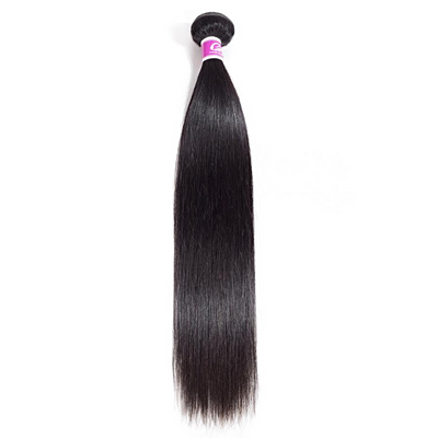 1pc Brazilian Straight Human Hair /  Remy 8 inch to 26 inch / 1B Natural Color