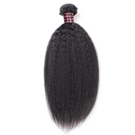1pc Peruvian Kinky Straight Human Hair / Non Remy / Yaki /  Natural Black Color