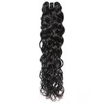 1pc Peruvian Water Wave Human Hair / Natural Black / Non Remy / 8 inch to 28 inch