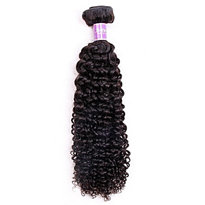 1pc Brazilian Kinky Curly Human Hair / Non Remy / Double Weft Natural Color 8 inch to 26 inch