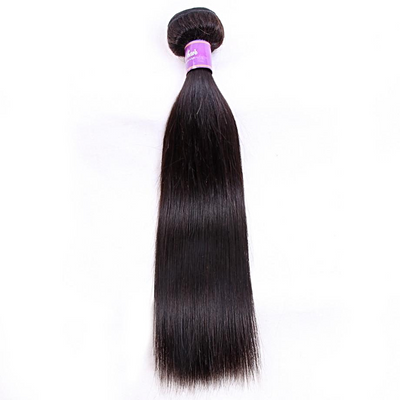 1pc Peruvian Straight Human Hair / Non Remy Hair /  Double Weft / Natural Color