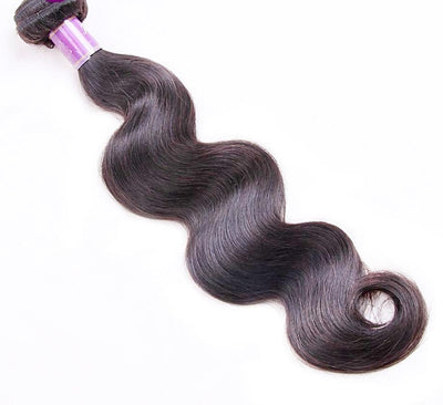1pc Peruvian Body Wave Human Hair / Non Remy Hair / Double Weft / Natural Color 8 inch to 26 inch