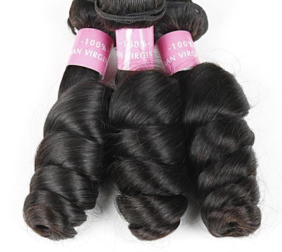 1 Bundle Brazilian Loose Wave Human Hair 10 inch to 28 inch Natural Color