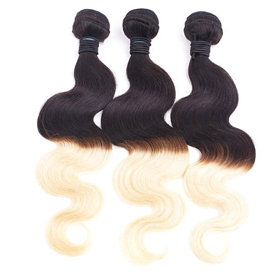 Peruvian Body Wave Remy Hair 1PC - Two Tone Platinum Blonde 1B 613