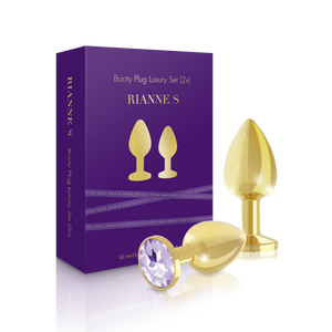 Soiree - Butt Plug Luxury Set Gold-Rianne S-VIOLEA