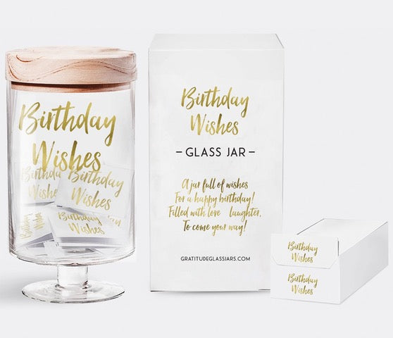 Birthday Wishes Glass Jar
