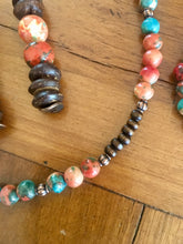 Multi Colored Turquoise Beaded Jewelry Set