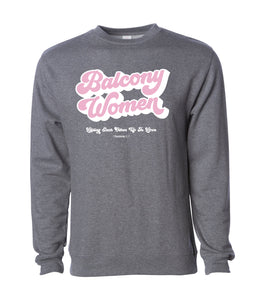 Balcony Women Sweatshirt in Pink or Gunmetal Gray