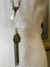 Vintage Tassel Charm Necklace and Earrings
