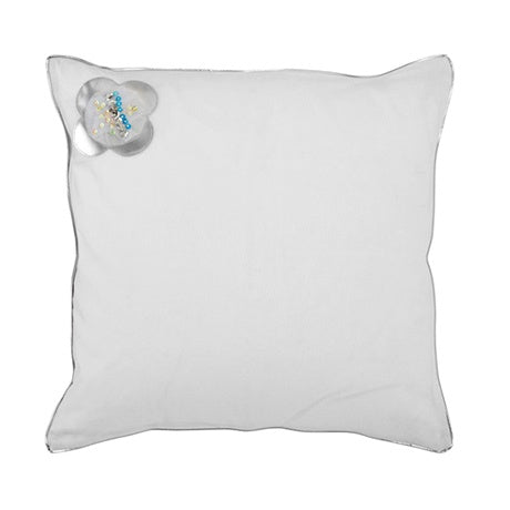 SQUARE CUSHION SILVERSPARKLE - kizhouse