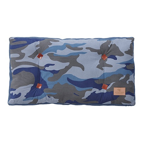 CUSHION BLUE CAMO / FITS ALSO FOR BOOKCASE