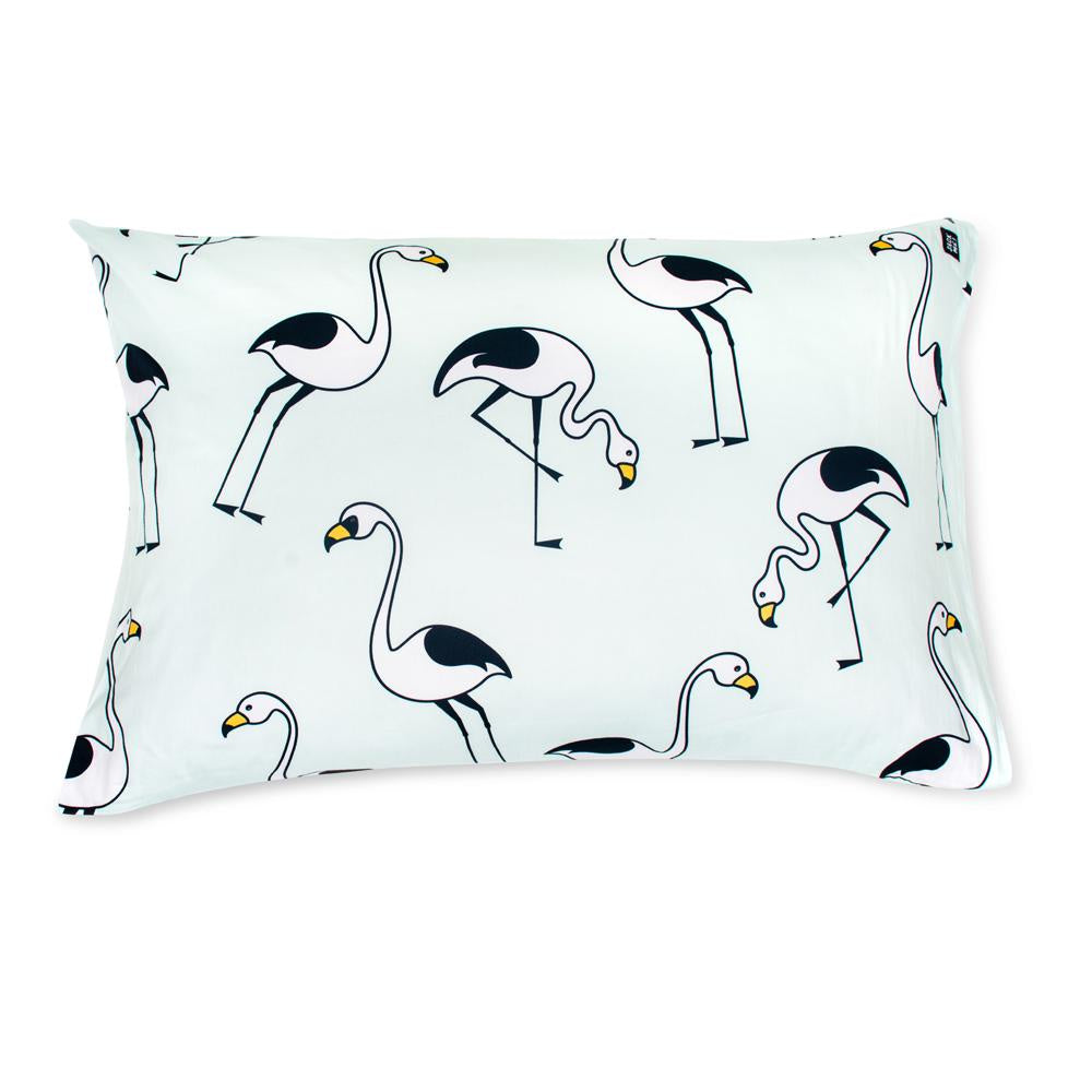 Flamingo Mint Pillowcase