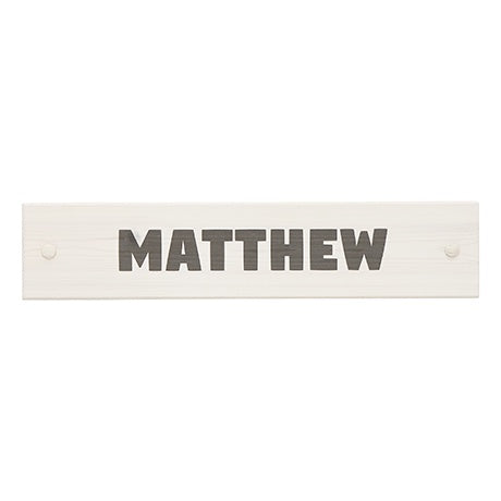 NAME PLATE WHITE WASH - FONT SQUARE