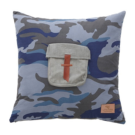 SQUARE CUSHION BLUE CAMO