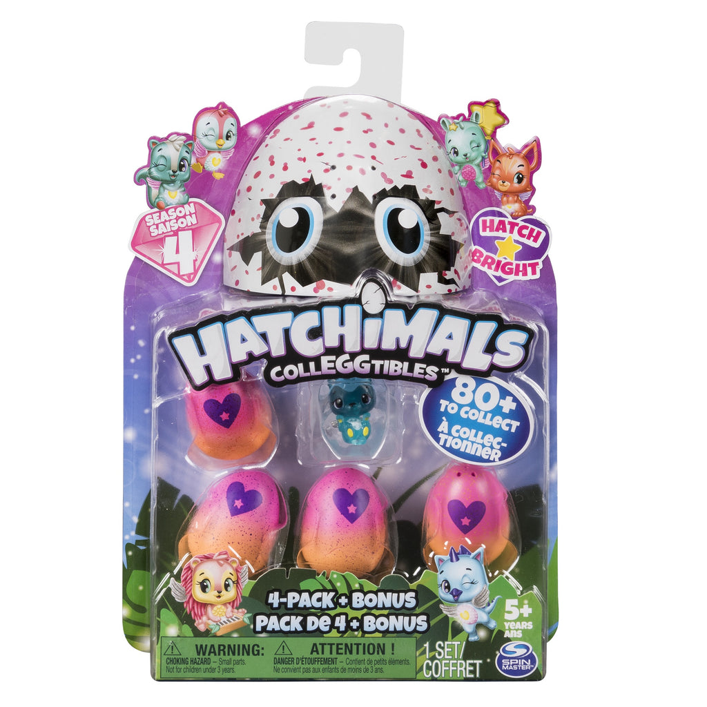 HATCHIMALS COLLEGGTIBLES 4PK S4
