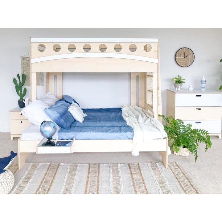 MID-HIGH BED / STANDARD SLATS WHITE