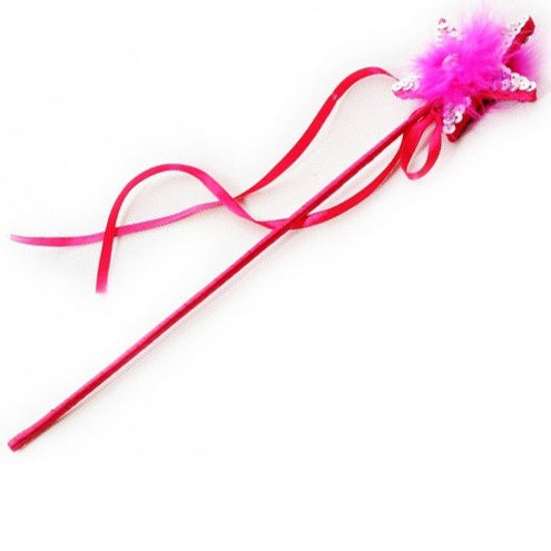 Fluffy Star Wand- Hot Pink