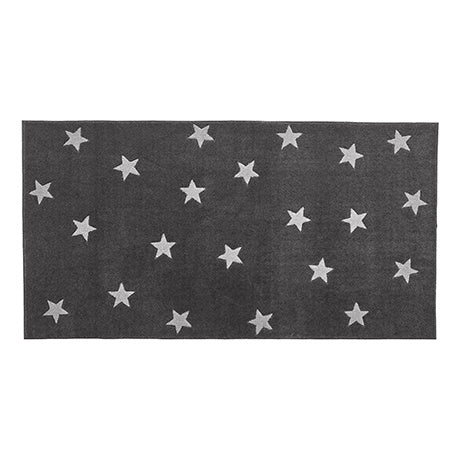 RUG GREY & STARS, 3D HAND CARVING