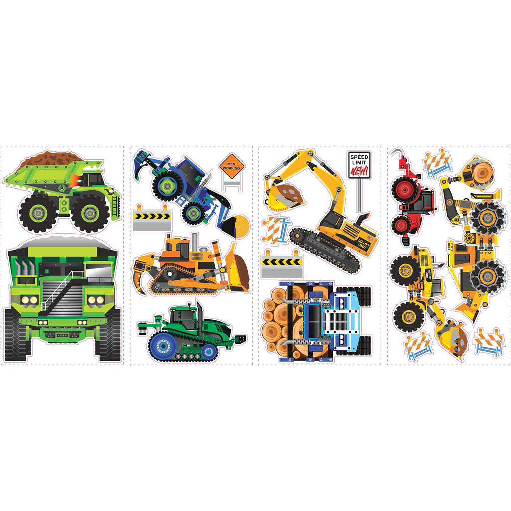 Room Decals Speed Construction Vehicles