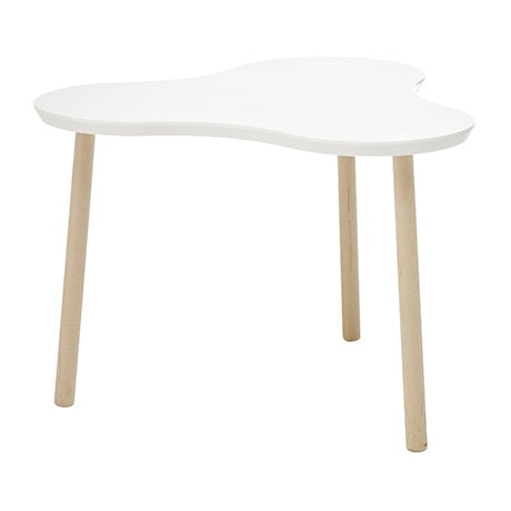 CHILDREN TABLE CLOVER WHITE