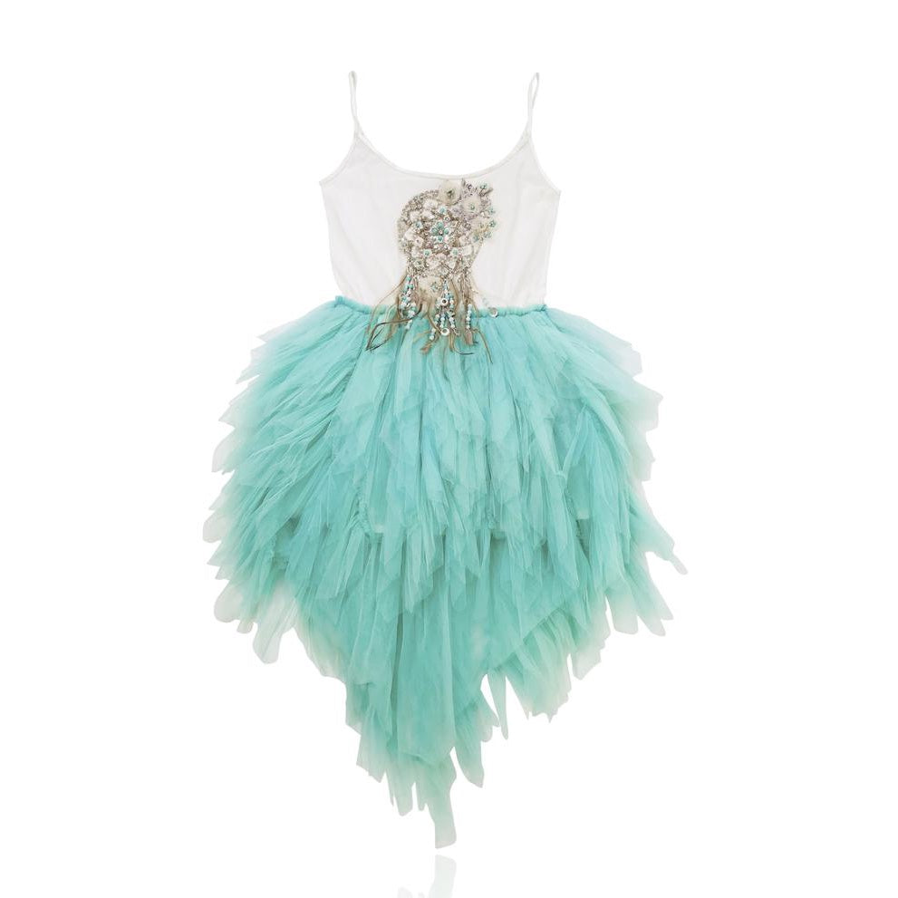 BOHO dreamcatcher tutu dress turquoise small 4- 6Y
