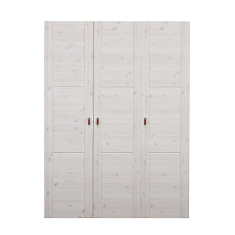 WARDROBE UNIT 150 CM WHITE WASH - INCL. DOOES + SHELVES EXCL. HANDLES