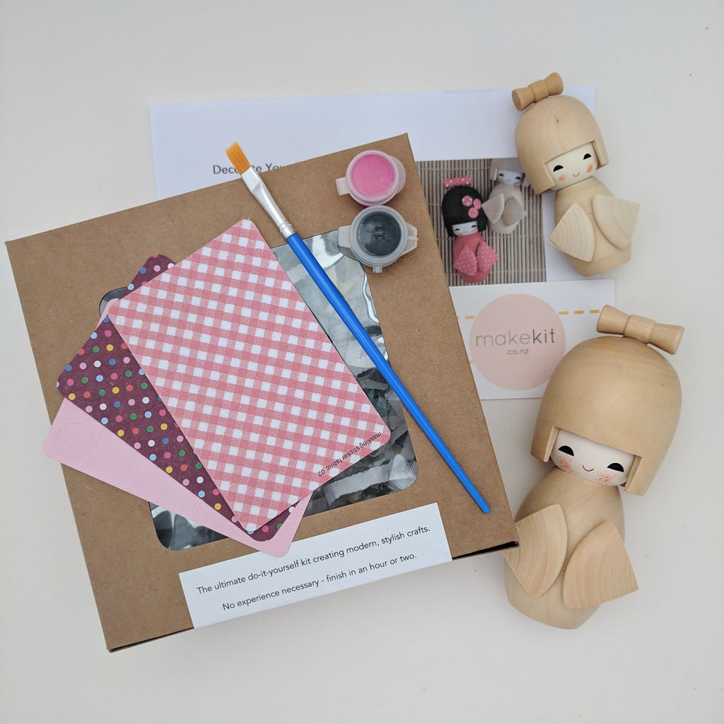 Decorate your own Japanese Doll