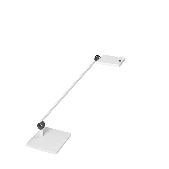 MI ARMED LED LUMINARE 7W - SQUARE SINGLE ARM WITH WHITE SQUARE TABLE BASE
