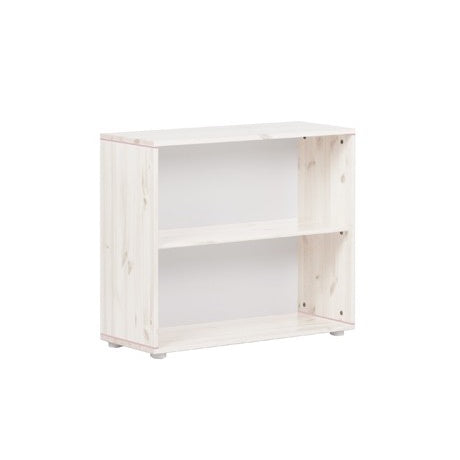 Shelf unit w. 3 shelves White washed