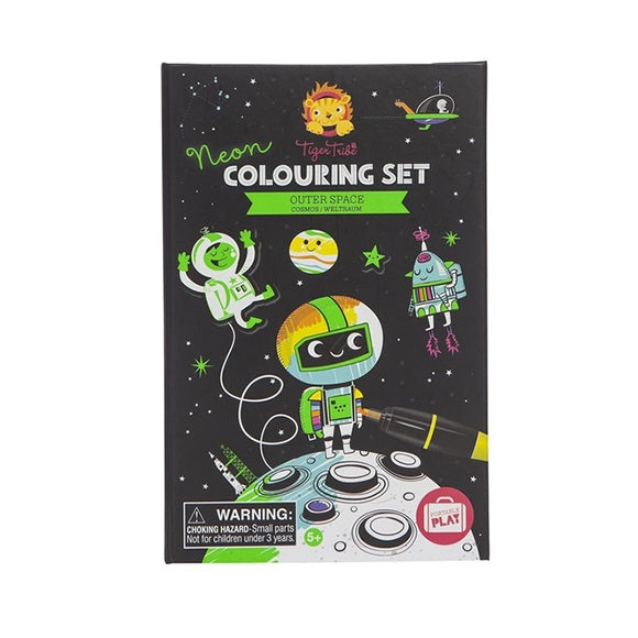 Neon Colouring Set - Space