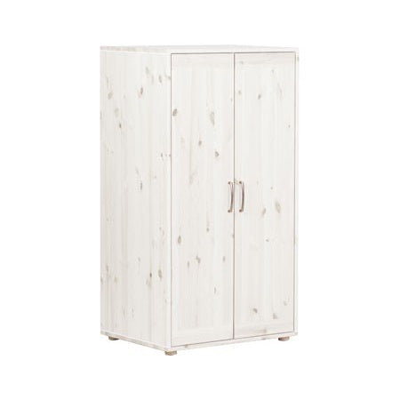 Low wardrobe w. 2 doors White Wash