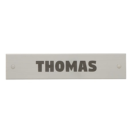 NAME PLATE GREY - FONT SQUARE