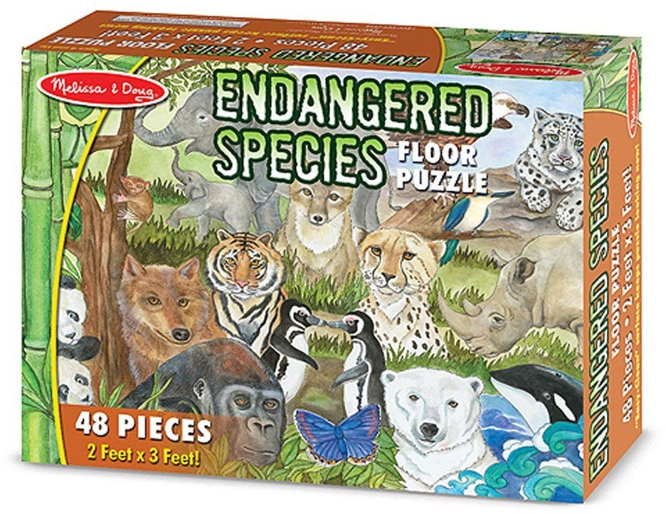 48 PIECE FLOOR PUZZLE - ENDANGERED SPECIES