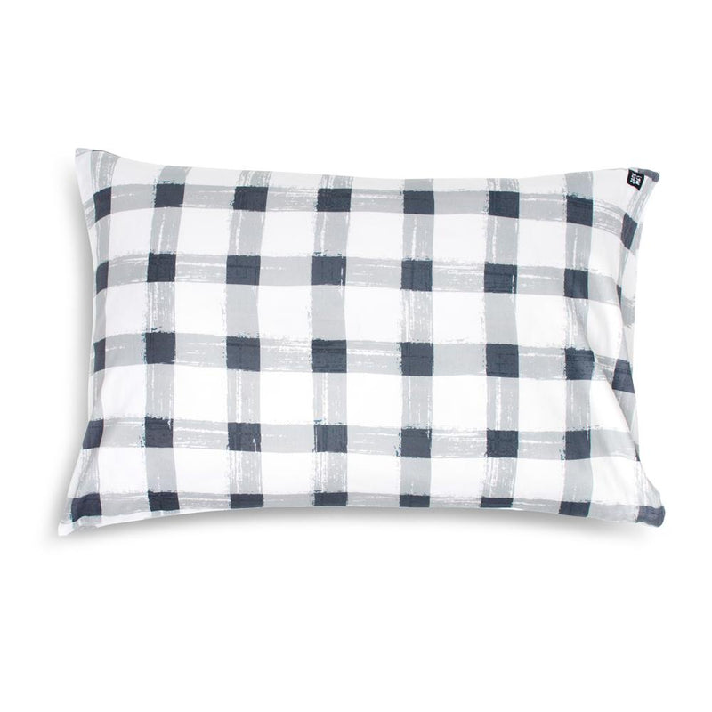 Grey Gingham Pillowcase