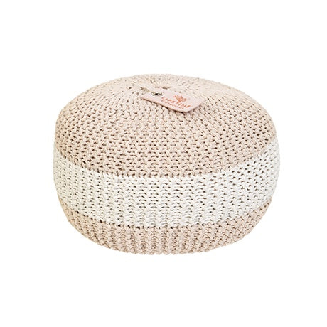 ROUND CROCHET POUF SUGAR PIE - kizhouse