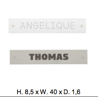 Name plate-font dots max. 10 letters