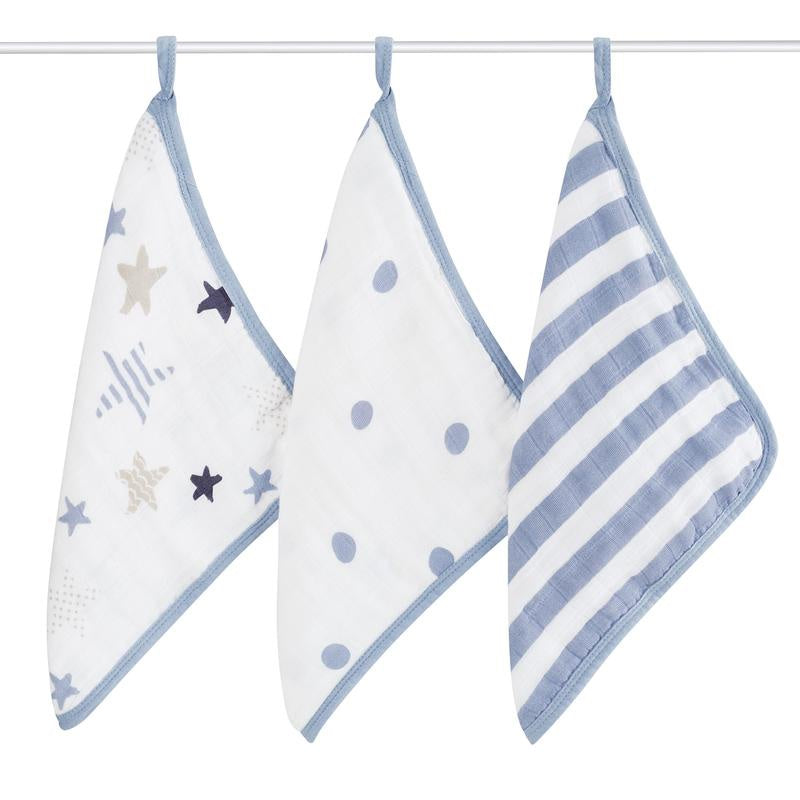 Rock star 3-pack washcloth set 3-pack