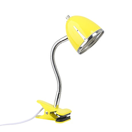 CLIPS LAMP YELLOW WITH CHROME EDGE