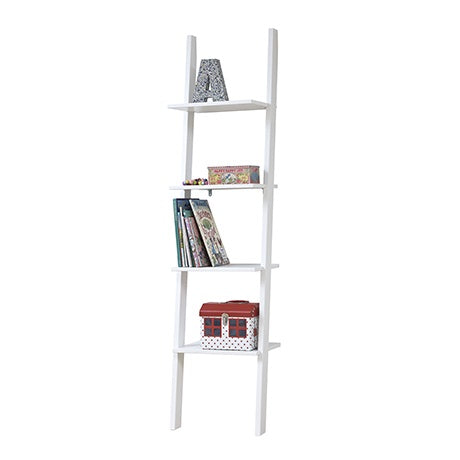 BOOKCASE WITH 4 SHELVES - WHITE