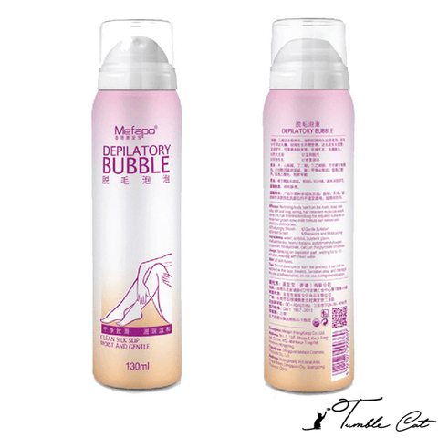 Hair Removal Bubble Spray Tumble Cat