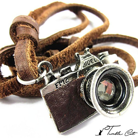 Rustic Camera Necklace