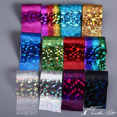 Instant Nail Art Foil Stickers (12pcs/Set)
