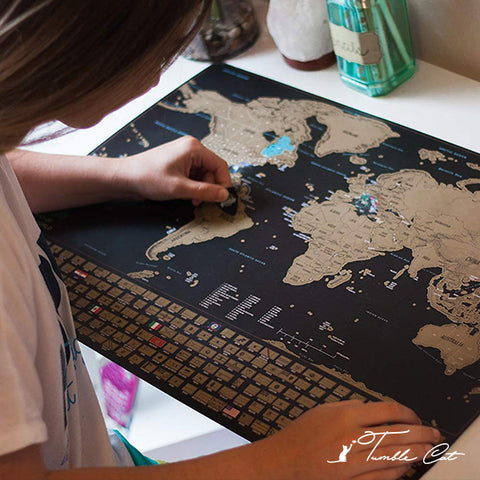 Scratch-Off Travel Map Poster