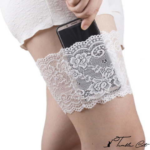 Hidden Lace Pocket Garter