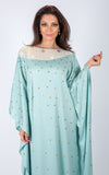 Embellished kaftan with sequins. Comes with removable belt.