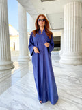 Textured abaya in blue