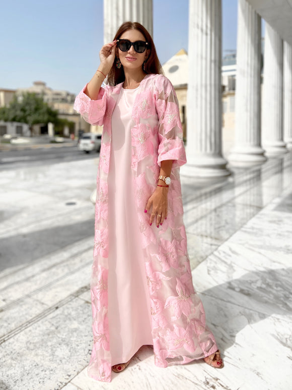 Pink Spinel Dress-Kaftan