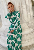 Tropical Leaf printed dress